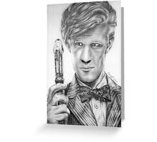 Matt Smith Portrait - 11th Doctor Greeting Card
