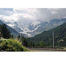Morteratsch Glacier, Switzerland Photographic Print