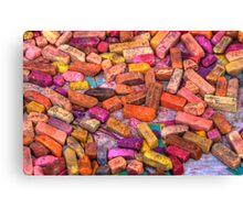 Pastel Chalks- earth tones Canvas Print