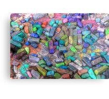 Pastel Chalks- sea tones Metal Print