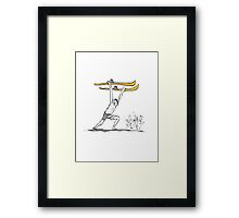 Can you guessthe Cartoodle? Framed Print