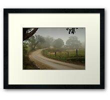 Prendegast Lane,Cobaw,Macedon Ranges Framed Print