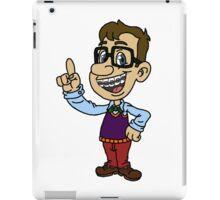 Cartoon Nerd iPad Case/Skin
