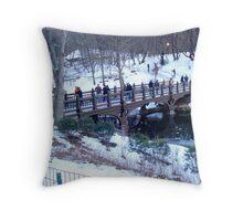 Oak Bridge Central Park Throw Pillow