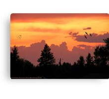 Sunset Wallpaper Canvas Print