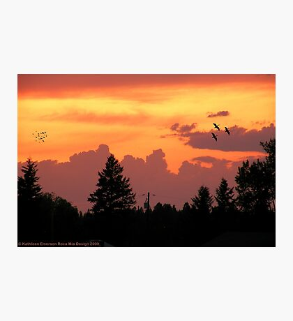 Sunset Wallpaper Photographic Print