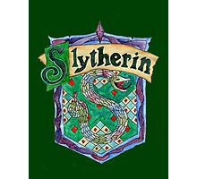 Slytherin House Crest Photographic Print