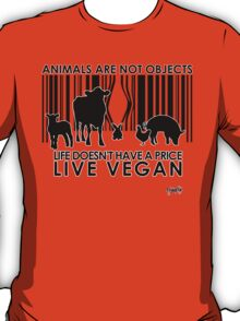 VeganChic ~ Animals Are Not Objects T-Shirt