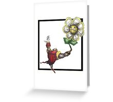 Robot ma Lady Flora Greeting Card