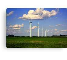 Wind mills : On the way to Minnesota Canvas Print