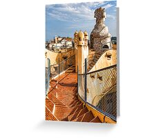 Gaudi's Fascinating Rooftop – Impressions Of Barcelona Greeting Card