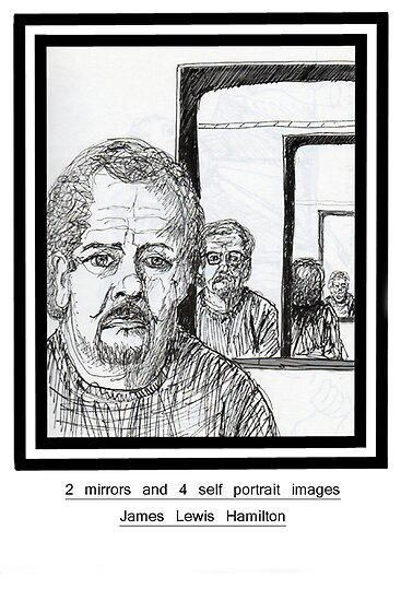 2 mirrors and 4 self portrait images by James Lewis Hamilton