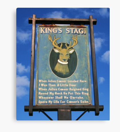 The King's Stag Sign Canvas Print