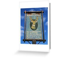 The King's Stag Sign Greeting Card