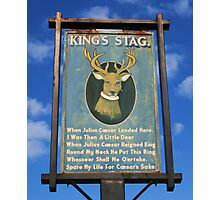 The King's Stag Sign Photographic Print