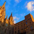 Warm Glow Cathedral - Impressions Of Barcelona by Georgia Mizuleva