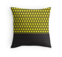 Attention Shovels Pattern Throw Pillow