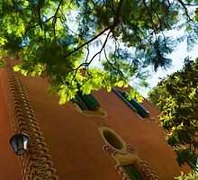Whimsical  Building Through the Trees - Impressions Of Barcelona by Georgia Mizuleva