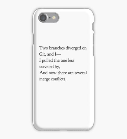 Merge Conflicts (small items) iPhone Case/Skin