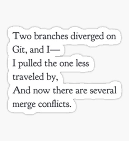 Merge Conflicts (small items) Sticker