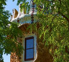 Fairy Tale Building Through the Trees - Impressions Of Barcelona by Georgia Mizuleva