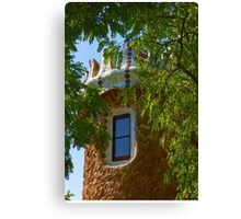 Fairy Tale Building Through the Trees - Impressions Of Barcelona Canvas Print
