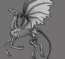 Thestral #2 with Gray Background by LegendOfZeldy