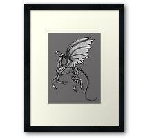Thestral #2 with Gray Background Framed Print
