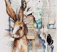 bald faeries with hare by chrissy carter