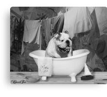 Bath time big boy Canvas Print