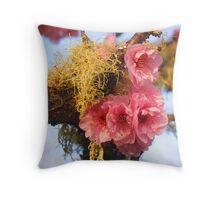 Moss blossoms Throw Pillow