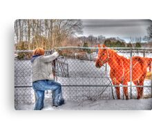 Lina and the Horse HDR Canvas Print