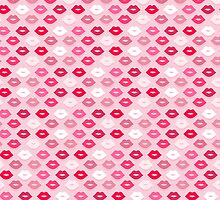 Pink Kiss Pattern by XOOXOO