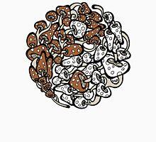 Yin Yang Mushrooms (brown-white version) Unisex T-Shirt