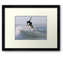 Surfing The Lake #1, Culburra Beach Framed Print