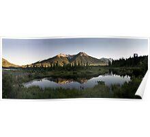 Vermillion lakes panoramic Poster