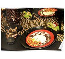 A Safari Dinner Poster
