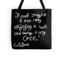 C. S. Lewis on Books Tote Bag