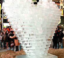 Ice Heart Sculpture in New York City by ZeeZeeshots