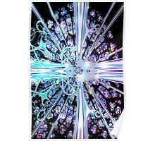 Crystal Cathedral Fractal Poster