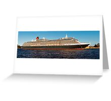 """Cunard Queen Victoria - Sydney Harbour - 30"""" x 10"""" Panorama Greeting Card"""
