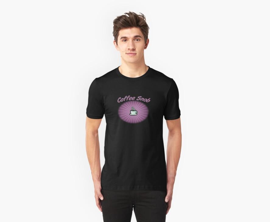 Coffee Snob Purple on Black by Michael Coots