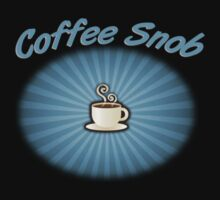 Coffee Snob Blue on Black by Michael Coots