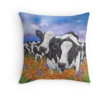 """Fragrant Friesians"" Throw Pillow"