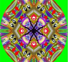 Rainbow Flirt Kaleidoscope by judygal