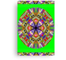 Rainbow Flirt Kaleidoscope Canvas Print