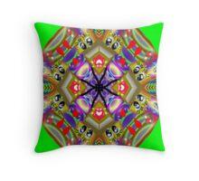 Rainbow Flirt Kaleidoscope Throw Pillow