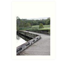 Down the garden path - Glades golf course, Gold Coast Art Print