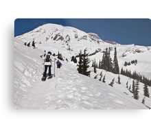 Snowshoeing at Paradise, Mt. Rainier National Park Metal Print