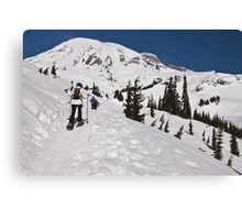 Snowshoeing at Paradise, Mt. Rainier National Park Canvas Print